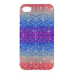 Rainbow Of Colors, Bling And Glitter Apple Iphone 4/4s Premium Hardshell Case by artattack4all