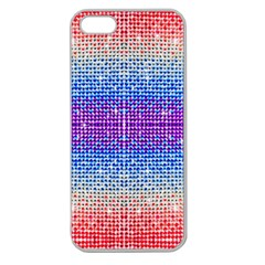 Rainbow Of Colors, Bling And Glitter Apple Seamless Iphone 5 Case (clear) by artattack4all