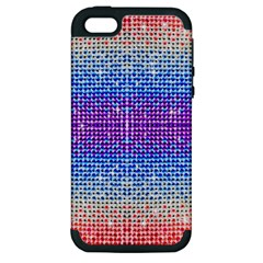 Rainbow Of Colors, Bling And Glitter Apple Iphone 5 Hardshell Case (pc+silicone) by artattack4all