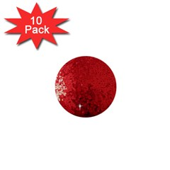 Sequin And Glitter Red Bling 10 Pack Mini Button (round) by artattack4all