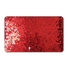 Sequin And Glitter Red Bling Large Sticker Magnet (rectangle) by artattack4all