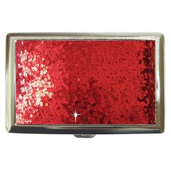 Sequin And Glitter Red Bling Cigarette Box by artattack4all