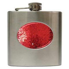 Sequin And Glitter Red Bling Hip Flask by artattack4all