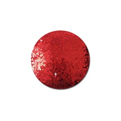 Sequin And Glitter Red Bling 10 Pack Golf Ball Marker by artattack4all