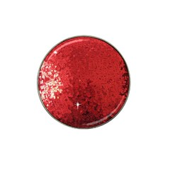 Sequin and Glitter Red Bling 10 Pack Golf Ball Marker (for Hat Clip)