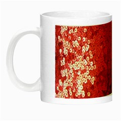 Sequin And Glitter Red Bling Glow In The Dark Mug by artattack4all