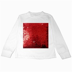 Sequin And Glitter Red Bling White Long Sleeve Kids'' T Shirt by artattack4all
