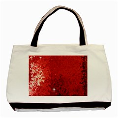 Sequin And Glitter Red Bling Black Tote Bag by artattack4all