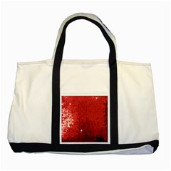Sequin And Glitter Red Bling Two Toned Tote Bag by artattack4all