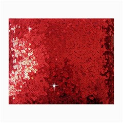 Sequin And Glitter Red Bling Twin Sided Glasses Cleaning Cloth by artattack4all