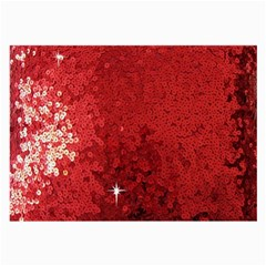 Sequin And Glitter Red Bling Single Sided Handkerchief by artattack4all