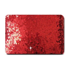 Sequin And Glitter Red Bling Small Door Mat by artattack4all