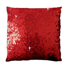 Sequin And Glitter Red Bling Twin Sided Cushion Case by artattack4all