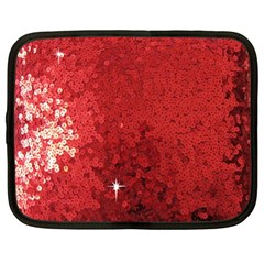 Sequin And Glitter Red Bling 15  Netbook Case by artattack4all