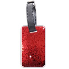 Sequin And Glitter Red Bling Single Sided Luggage Tag by artattack4all