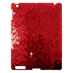 Sequin And Glitter Red Bling Apple Ipad 3/4 Hardshell Case by artattack4all