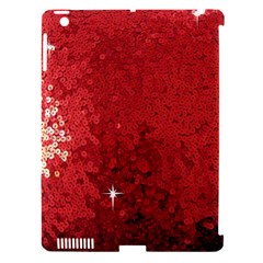 Sequin And Glitter Red Bling Apple Ipad 3/4 Hardshell Case (compatible With Smart Cover) by artattack4all