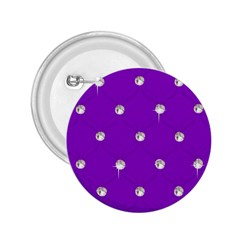 Royal Purple And Silver Bead Bling Regular Button (round) by artattack4all