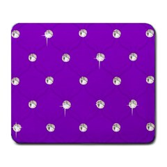 Royal Purple And Silver Bead Bling Large Mouse Pad (rectangle) by artattack4all