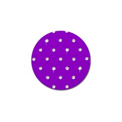 Royal Purple And Silver Bead Bling 10 Pack Golf Ball Marker by artattack4all