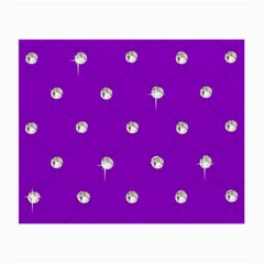Royal Purple And Silver Bead Bling Twin Sided Glasses Cleaning Cloth by artattack4all