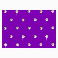 Royal Purple And Silver Bead Bling Single Sided Handkerchief by artattack4all