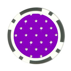 Royal Purple And Silver Bead Bling Poker Chip by artattack4all