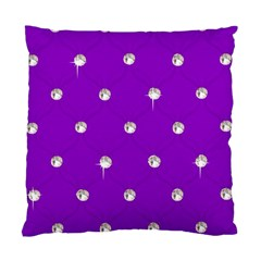 Royal Purple And Silver Bead Bling Single Sided Cushion Case by artattack4all