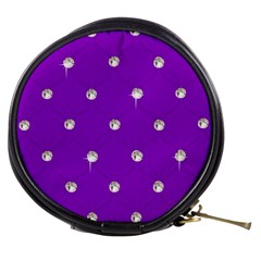 Royal Purple And Silver Bead Bling Mini Makeup Case by artattack4all