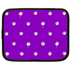 Royal Purple And Silver Bead Bling 13  Netbook Case by artattack4all
