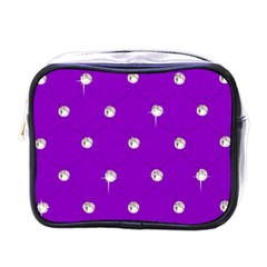 Royal Purple And Silver Bead Bling Single Sided Cosmetic Case by artattack4all