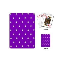 Royal Purple And Silver Bead Bling Playing Cards (mini) by artattack4all