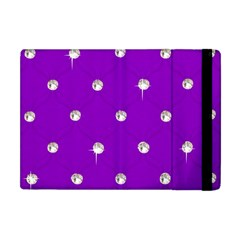 Royal Purple And Silver Bead Bling Apple Ipad Mini Flip Case by artattack4all