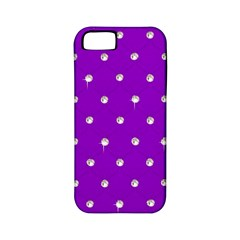 Royal Purple And Silver Bead Bling Apple Iphone 5 Classic Hardshell Case (pc+silicone) by artattack4all