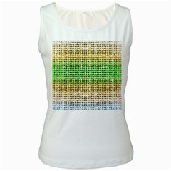 Diamond Cluster Color Bling White Womens  Tank Top by artattack4all