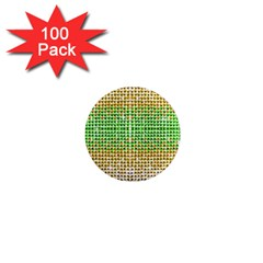 Diamond Cluster Color Bling 100 Pack Mini Magnet (round) by artattack4all