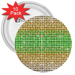 Diamond Cluster Color Bling 10 Pack Large Button (round) by artattack4all