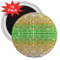 Diamond Cluster Color Bling 10 Pack Large Magnet (round) by artattack4all