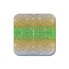 Diamond Cluster Color Bling Rubber Drinks Coaster (square) by artattack4all