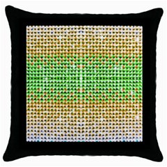 Diamond Cluster Color Bling Black Throw Pillow Case by artattack4all