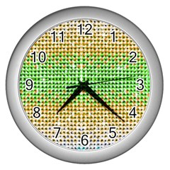 Diamond Cluster Color Bling Silver Wall Clock by artattack4all