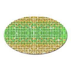 Diamond Cluster Color Bling Large Sticker Magnet (oval) by artattack4all