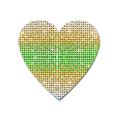 Diamond Cluster Color Bling Large Sticker Magnet (heart) by artattack4all
