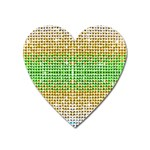 Diamond Cluster Color Bling Large Sticker Magnet (Heart) Front