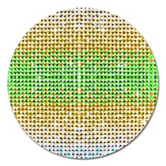Diamond Cluster Color Bling Extra Large Sticker Magnet (round)