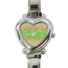 Diamond Cluster Color Bling Classic Elegant Ladies Watch (heart) by artattack4all