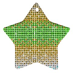 Diamond Cluster Color Bling Twin Sided Ceramic Ornament (star) by artattack4all