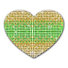 Diamond Cluster Color Bling Mouse Pad (heart) by artattack4all