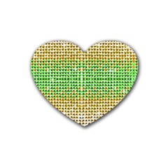 Diamond Cluster Color Bling 4 Pack Rubber Drinks Coaster (heart) by artattack4all