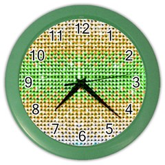 Diamond Cluster Color Bling Colored Wall Clock by artattack4all